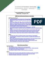 Rapport de l'UNEP