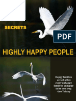 16 Secrets of Highly Happy People