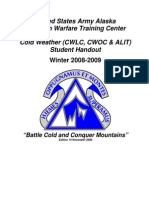 Cold Weather (CWLC, CWOC & ALIT) Student Handout, Winter 2008 - 2009