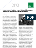 Roma Poverty and the Roma National Strategies:The Cases ofAlbania, Greece and Serbia