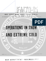 FM 70-15 Operations in Snow and Extreme Cold (nov 1944)
