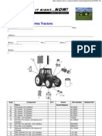 John Deere 6000 Series Inspection Serviceparts Checklist (15Sep04)
