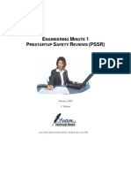 Pre Startup Safety Review-PSSR