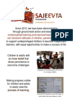 SAJEEVTA learning for equality (December 2012)
