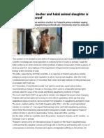 Scientists Claim Kosher and Halal Animal Slaughter is INHUMANE AND CRUEL