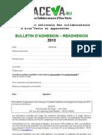 Bulletin Adhesion 2013