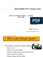 Qualities of a Change Agent