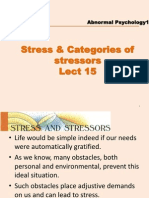 Lect 13 Stress and Categories of Stressors