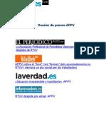 APPV contra ERE de RTVV - Dossier de Prensa