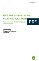 Effective Ways of Linking Relief and Rural Development: Oxfam's experience of implementing programmes using EU Food Facility funds