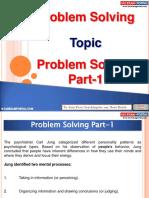 Problem Solving Part 1