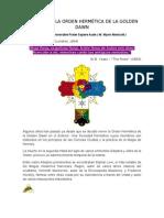 HISTORIA DE LA ORDEN HERMÉTICA DE LA GOLDEN DAWN