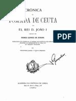 Crónica da Tomada de Ceuta de Gomes Eanes de Zurara