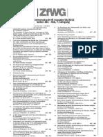 ZfWG_06_2012_Inhaltsverzeichnis