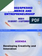 SPE3002 Entrerpeneurship - Creativity and Innovation w8[1]