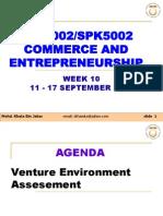 SPE3002 Entrerpeneurship - Venture Environment Assesemant w1