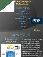 Aktivitas Ion (Kelompok 1) by Husnul, Martina, Arief Dan Yan Kelas KA'11