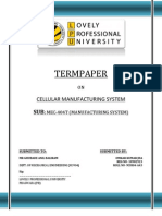 Termpaper-cellular Manufacturing System-manufacturing System