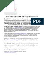Zevrix Releases Deliver 2.4