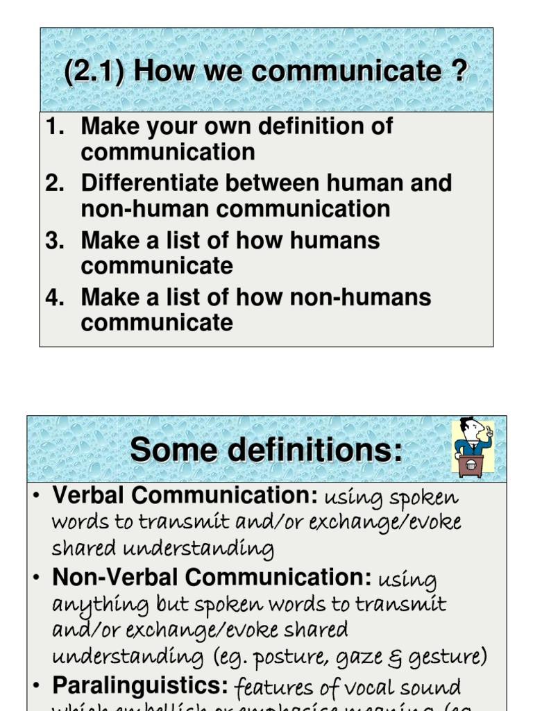 non verbal communication.ppt | nonverbal communication | body language