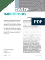 Nanowire Nanosensors