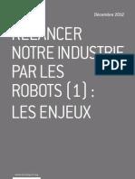 Relancer notre industrie par les robots (1)