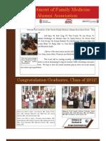 Brown Family Medicine Alumni Association Newsletter Fall '12
