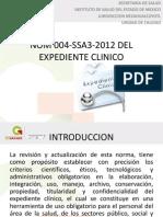 Nom 004-Ssa3-2012 Del Expediente Clinico