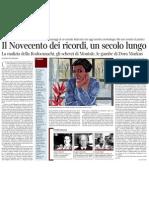 Il Novecento Dei Ricordi, Un Secolo Lungo - Corriere Della Sera 19.12.2012