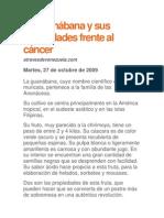 La guanábana y sus propiedades frente al cáncer