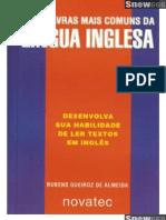 As Palavras Mais Comuns da Língua Inglesa - 1ª Edição - Rubens Queiroz de Almeida