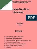 Evaziunea Fiscal n Rom Nia