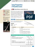 ML Geometry 3-5 Using Properties of Parallel Lines
