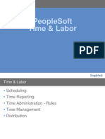 PeopleSoft Time and Labor Overview
