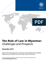 International Bar Association's Human Rights Institute (IBAHRI)-RULE OF LAW  Myanmar report (December 2012)
