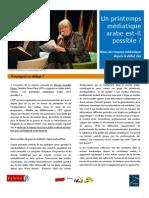 Un printemps médiatique arabe est-il possible ? Compte-rendu de la rencontre de Marseille - Panos Paris