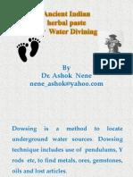 Water Divinig with herbal paste