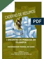 CADERNO DE RESUMOS SEMANA DE FILOSOFIA UFC