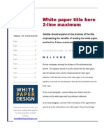 2009 WORD White Paper Template