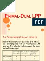Primal Dual LPP