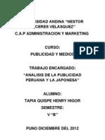 Analisis Publicitario Peru - Japon