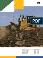 Manual de especificaciones de Buldocer D6T