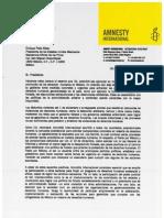 Carta abierta a Enrique Peña Nieto. Amnistía Internacional