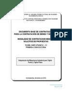 Adquisición de maquinas industriales para tejido punto y plano (I)