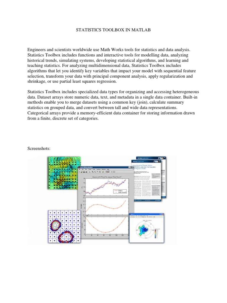 Statistics Toolbox in Matlab | Data Analysis (22 views)