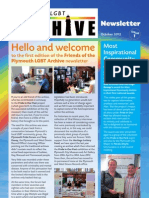 Friends of the Plymouth LGBT Archive Newsletter 1