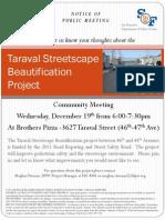 Taraval Streetscape - Dec 2012