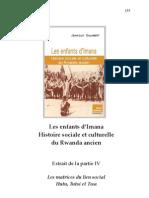 Extrait de La Partie IV. Les Matrices Du Lien Social. Hutu, Tutsi Et Twa