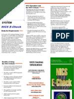 National Instant Criminal Background Check System NICS E-Check