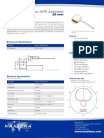 Embedded Active GPS Antenna - 25mm